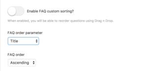 Alternative questions sorting