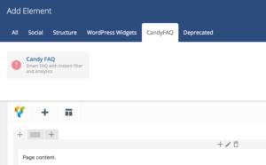 Candy FAQ Visual Composer integration